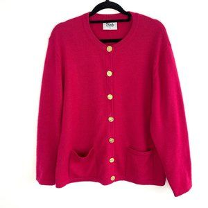 Slade Vintage Pure Wool Gold Button Cardigan 14